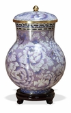Purple Floral Cloisonne Cremation Urn