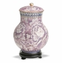 Purple Floral Keepsake Medium Cloisonne Cremation Urn