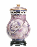 Purple Floral Miniature Cloisonne Cremation Urn