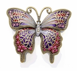 Purple Jeweled Butterfly Keepsake Cremation Urn