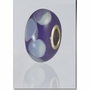 Purple Lasting Memory Bead Cremains Encased in Glass Cremation Jewelry