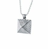 Pyramid Sterling Silver Cremation Jewelry Pendant Necklace