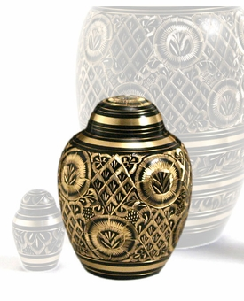 Radiance Brass Extra Small Cremation Urn