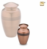 Radiance Copper Finish Keepsake Cremation Urn