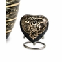Radiance Heart Brass Keepsake Cremation Urn