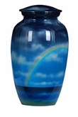 Rainbow Hand Painted Cremation Urn