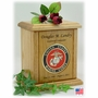 Recessed Military Embossed Medallion Engraved Wood Cremation Urn