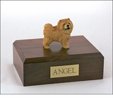 Red Chow Chow Dog Figurine Pet Cremation Urn - 1836