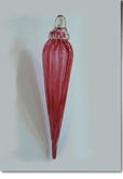 Red Everlasting Icicle Cremains Encased in Glass Cremation Ornament