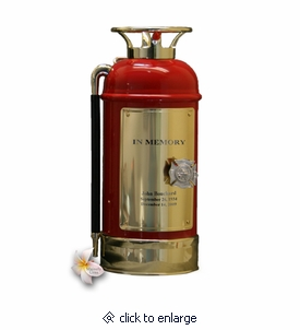 Red Fire Extinguisher Firefighter Cremation Urn