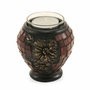 Red Hibiscus Glass Mosaic Keepsake Tealight Cremation Urn