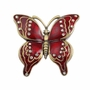 Red Jeweled Butterfly Keepsake Cremation Urn