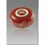 Red Perfect Memory Bead Cremains Encased in Glass Cremation Jewelry