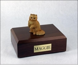 Red Persian Cat Figurine Pet Cremation Urn - 608