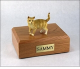 Red Tabby Cat Figurine Pet Cremation Urn - 650