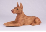 Red Tan Doberman Pincher Hollow Figurine Pet Cremation Urns - 2744