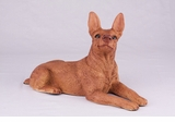 Red Tan Miniature Pincher Hollow Figurine Pet Cremation Urn - 2758