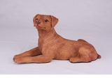 Red Tan Miniature Pincher Hollow Figurine Pet Cremation Urn - 2760