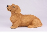 Red Wire Haired Dachshund Hollow Figurine Pet Cremation Urns - 2742