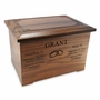 Renaissance Walnut Wood Companion Cremation Urn
