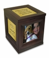 Revolving Photo Or Plaque Keepsake Cube Cremation Urn