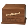 Ribbon and Rings Walnut Wood Companion Cremation Urn