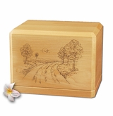 Road Home Classic Maple Wood Cremation Urn