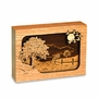 Road Home Dimensional Wood Keepsake Cremation Urn - Engravable