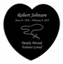Rosary Laser-Engraved Heart Plaque Black Granite Memorial