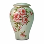 Rose Bouquet Hand Painted Ceramic Cremation Urn