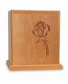 Rose Cherry Cremation Urn - Engravable