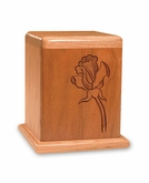 Rose Cherry Keepsake Cremation Urn - Engravable
