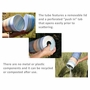 White Leather Eco Friendly Cremation Urn Scattering Tube in 2 sizes