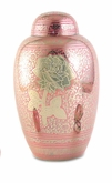 Rose Floral Brass Cremation Urn