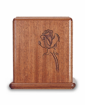 Rose Mahogany Cremation Urn - Engravable