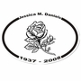 Rose Memorial Sticker