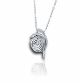 Rose Sterling Silver Cremation Jewelry Pendant Necklace