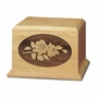 Roses Cherry Wood Cremation Urn