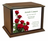 Roses Eternal Reflections Wood Cremation Urn - 4 Sizes