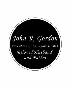 Round Nameplate - Engraved Black and Silver - 2-3/4  x  2-3/4