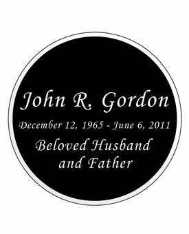 Round Nameplate - Engraved Black and Silver - 3-1/2  x  3-1/2