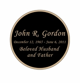Round Nameplate - Engraved Black and Tan - 2-3/4  x  2-3/4