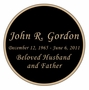 Round Nameplate - Engraved Black and Tan - 3-1/2  x  3-1/2