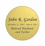 Round Nameplate - Engraved - Gold - 2-3/4  x  2-3/4