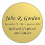 Round Nameplate - Engraved - Gold - 3-1/2  x  3-1/2