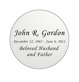 Round Nameplate - Engraved - Silver - 2-3/4  x  2-3/4