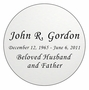 Round Nameplate - Engraved - Silver - 3-1/2  x  3-1/2