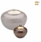 Round Simplicity Bronze Finish Keepsake Cremation Urn