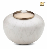 Round Simplicity Pearl Cremation Urn