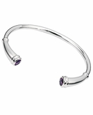 Rounded Flute Polished Sterling Silver Cremation Bracelet With Birthstone Choice